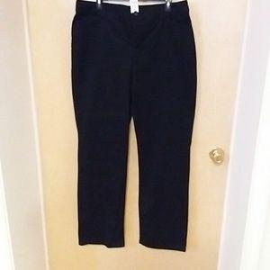 NWT Croft&Barrow size 18L black dress pants